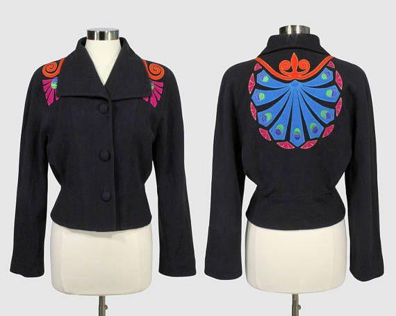 Laurel by Escada Vintage 1980s Modern Shawl Collar Cropped