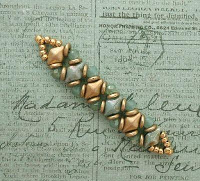 Linda's Crafty Inspirations: Playing with my beads...DiamonDuos, O-Beads &…