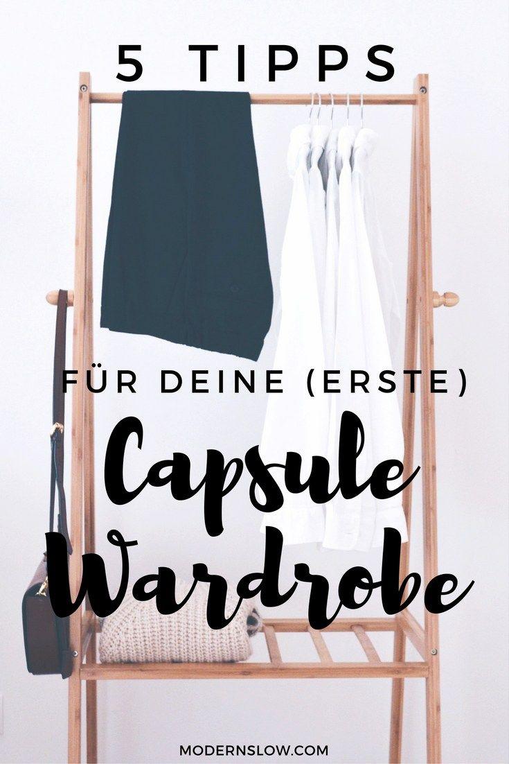 Wie erstellt man eine Capsule Wardrobe? Vor allem wenn es die erste ist? | modernslow.com