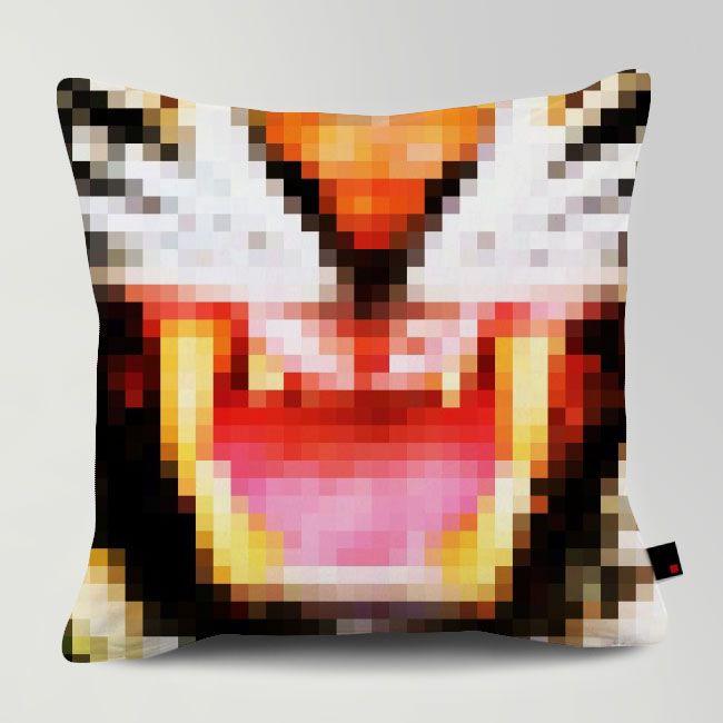PIXEL TIGER / Designed by Fimbis / Made by OneRevolt.com / #쿠션 #원리볼트 #인테리어 #홈데코 #호랑이 #tiger #pixel #design #cushion