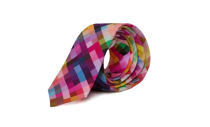 marthu tie pixel, marthu print, cotton tie, men's accessories