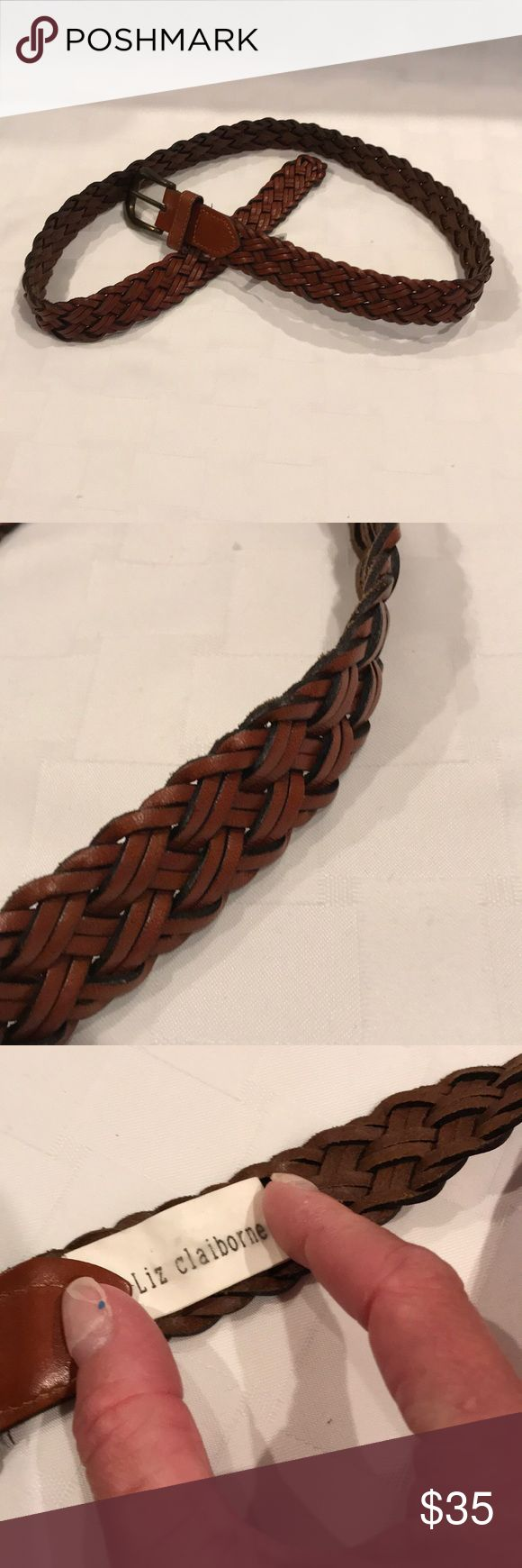 Leather Braided Belt BNWOT Brown Leather Braided Belt. Great to wear with any casual occasion. Free gift with purchase🎁 Liz Claiborne Accessories Belts
