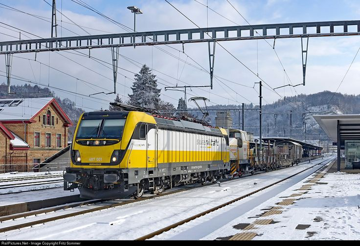Rem 487 001 Swiss Rail Traffic Rem 487 at Burgdorf, Switzerland by Fritz Sommer