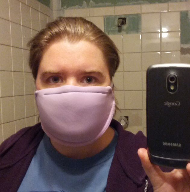 Yup, it's a bra turned dust mask! Detailed tutorial included.  Sorry - laughing too hard to ever consider doing this.  That is just hilarious.