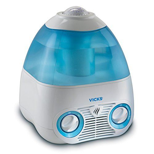The Vicks Starry Night Cool Moisture Humidifier provides soothing, cool, invisible moisture and a calming environment to help your child sleep. The V3700 features a projector screen that transforms you child's room into a starry night sky. Its scent pad heater produces soothing menthol vapors f...