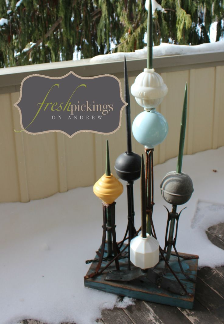 Fresh Collection of vintage Lightening Rods..... One of my favourite collections :) Meg @ Fresh Pickings on Andrew~
