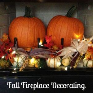 Fall Fireplace Decorating