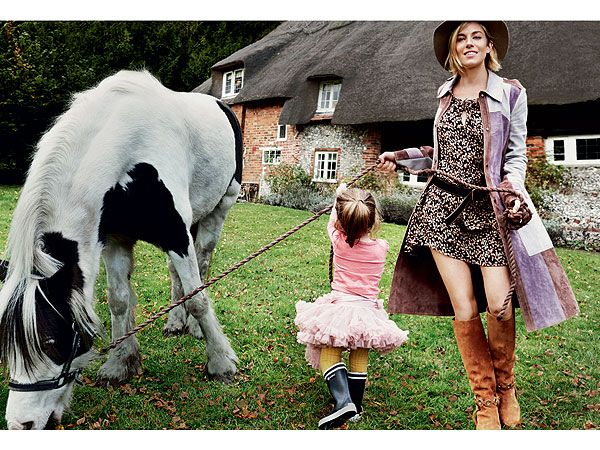 """It's very much a normal life,"""" the actress says... Sienna Miller for VOGUE January 2015"""