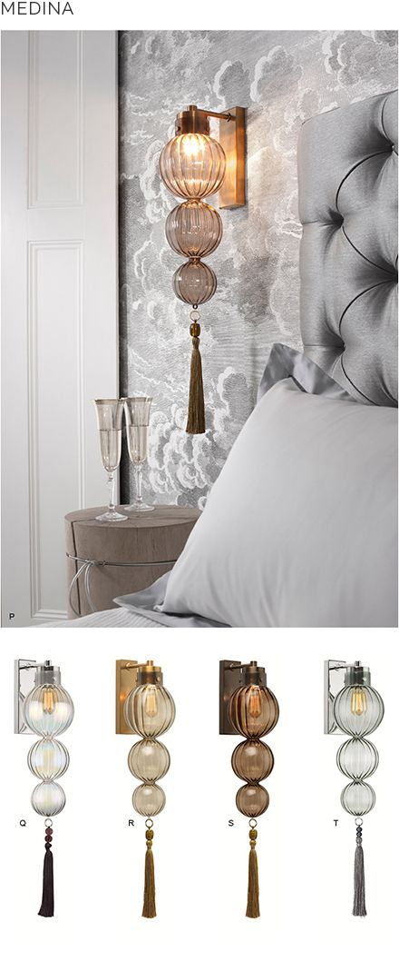 Beautiful bedside lighting from Heathfield & Co | Heathfield & Co
