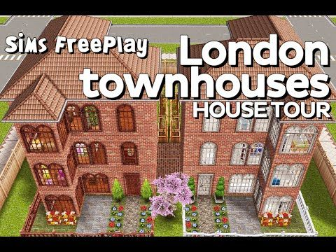 The Sims Freeplay - London townhouses (Original design) - YouTube