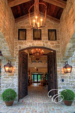 Tuscan Farmhouse - mediterranean - entry - houston - Eklektik Interiors