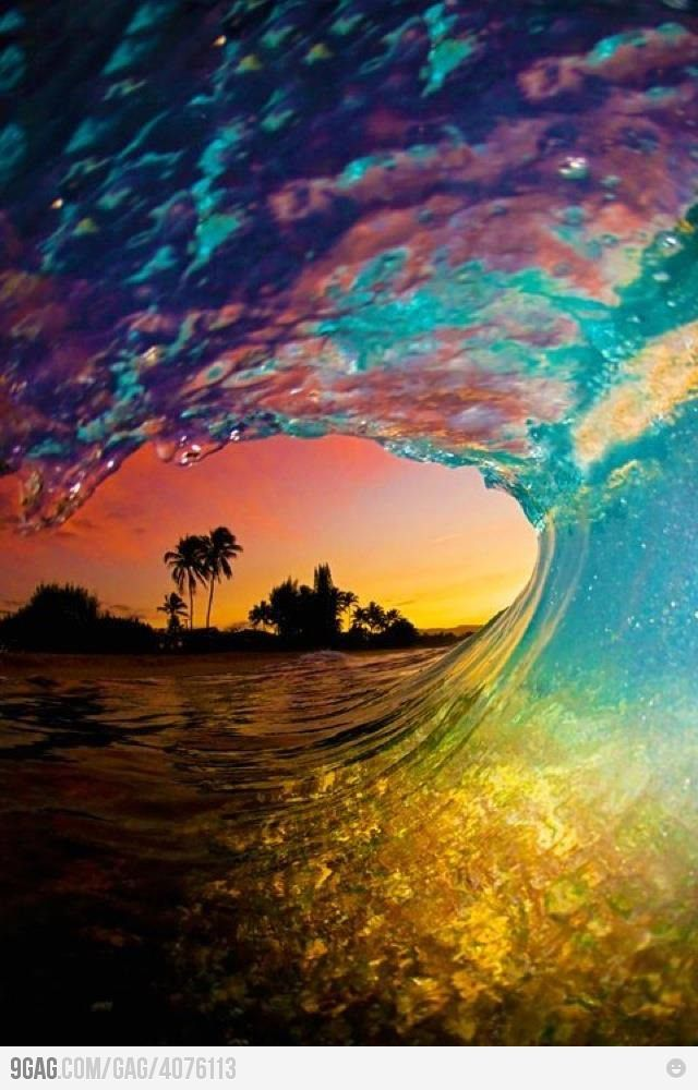 Mother Nature Win: Epic sunset wave – Nicole Th