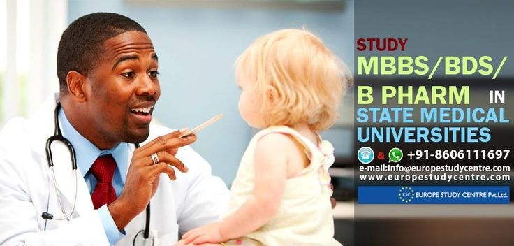 STUDY MBBS/BDS/B PHARM IN STATE MEDICAL UNIVERSITIES  Germany / China / Lithuania/ Latvia/ Bulgaria/ Hungary/ Philippines/ Czech Republic/ Russia/ Ukraine.  Medicine programes in state medical universities  Globally recognized medical degrees Approached by MCI/DCI/Nursing Council Govt. Subsidized fee structure Medium of instruction is in English Rich academic heritage.  Hotline & WhatsApp : +91-8606111697 e-mail:info@europestudycentre.com www.europestudycentre.com