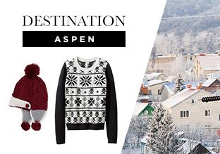 Destination: Aspen -   If you're headed to Aspen to hit the slopes, brush elbows with the rich and famous, and take in the breathtaking scenery (and maybe a little shopping), prepare by stocking your closet with ski town must-haves. Here, find everything from warm snow boots and fur-trimmed parkas for travelling to a...  #Beanie, #Belt, #Boot, #Cap, #Cardigan, #Diamond, #Dress, #Duvet, #FauxFur, #Gloves, #Hats, #Jacket, #Laceup, #Outerwear, #Parka, #Pillow, #Pullover, #Quil