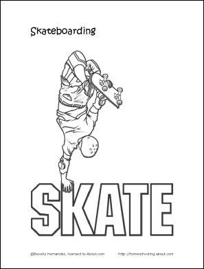 27 besten coloring skateboard bilder auf pinterest for Skateboard coloring page