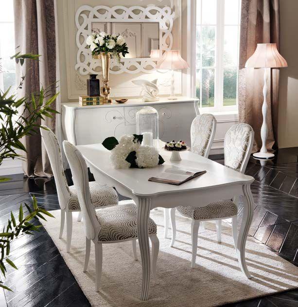 tavolo soggiorno chic #charme #tavolorettangolare #tavolocharme