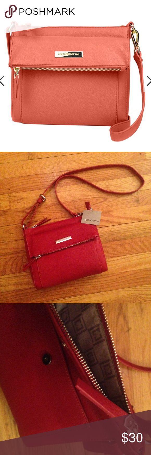 Liz Claiborne Crossbody Bag BRAND NEW WITH TAG! • Liz Claiborne Crossbody Bag • Red & Gold Liz Claiborne Bags Crossbody Bags
