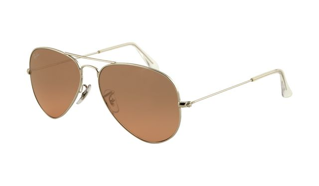 Ray Ban RB3025 Aviator Sunglasses Arista Frame Pink Brown Polari