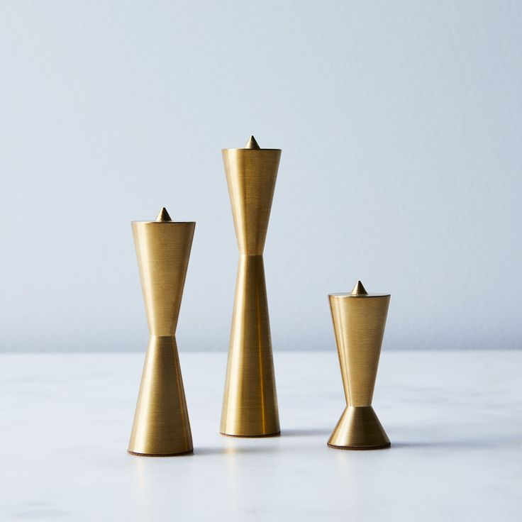 Candlestix Brass Candle Holder (Set of 3) on Food52