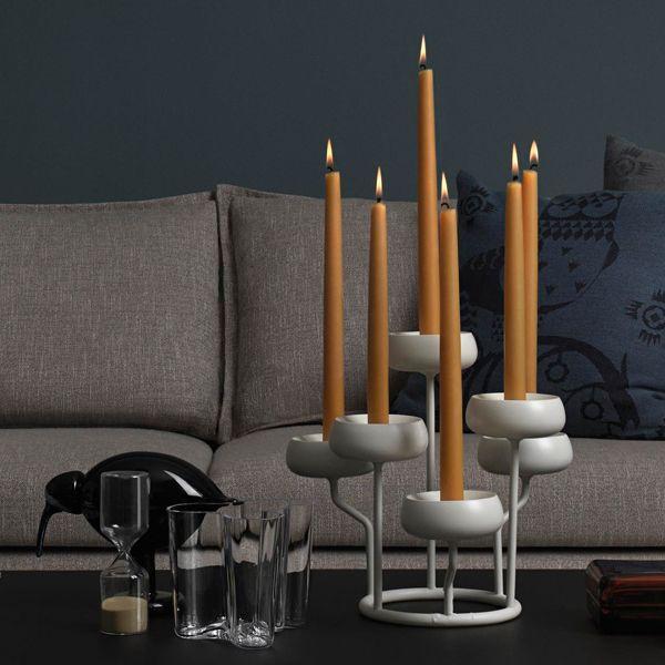 Nappula candlelabra, white, by Iittala.
