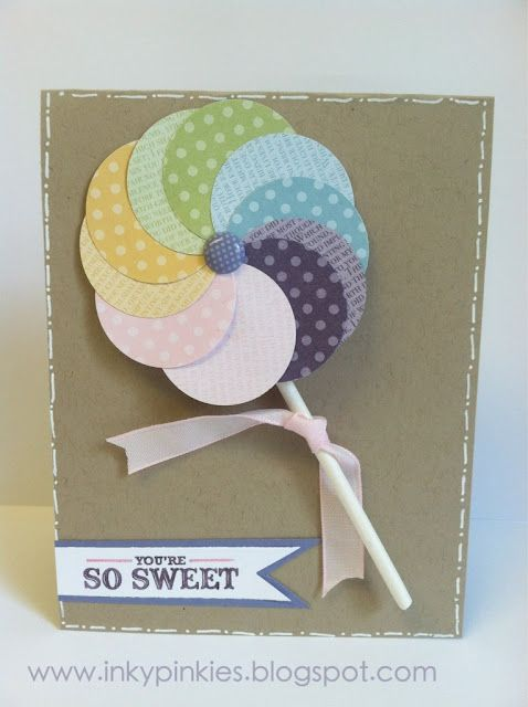Cut circles on Cricut out of paint swatch cards maybe?? Love this!