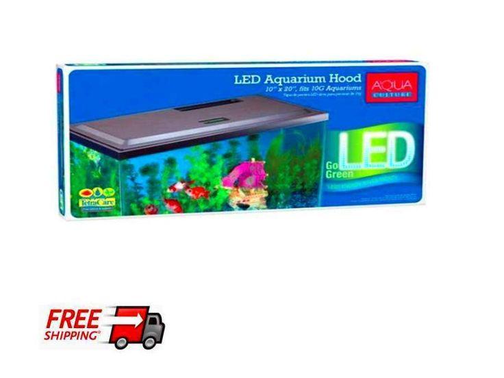 Aqua Culture Led Hood 10 Gallon Aquariums Fish Tank Cover Light Long-life LED | eBay