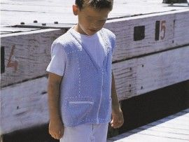 Tricot enfant : gilet zippé Cargo