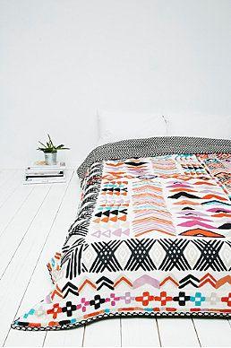 Wonky - Couvre-lit à motifs géométriques
