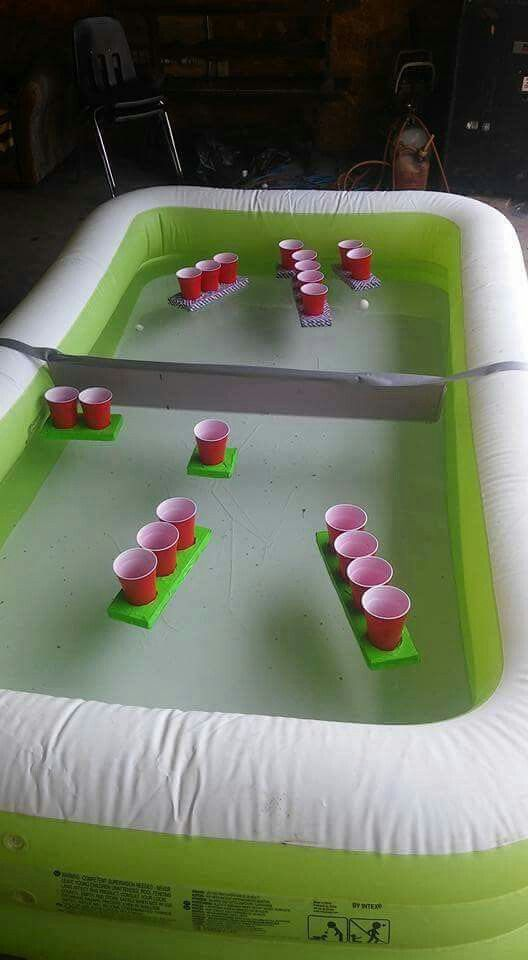 Beer pong floating battleship