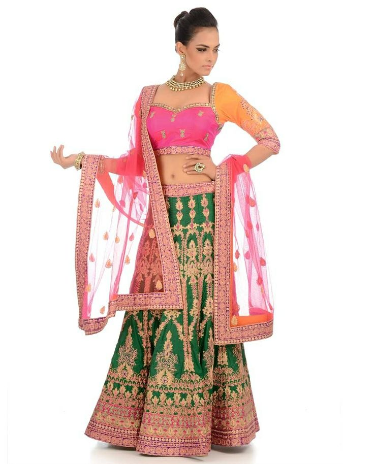 Another multicolored beautiful bridal lehnga