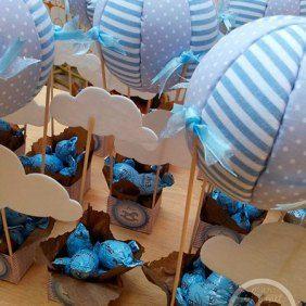 Recuerdos para Baby Shower de niño con globos