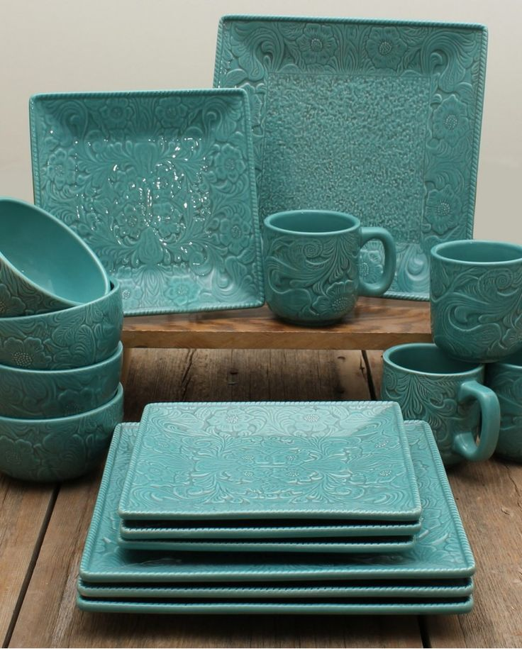 Savannah 16 Piece Dinnerware Set - Fort Western Stores  the color and design.