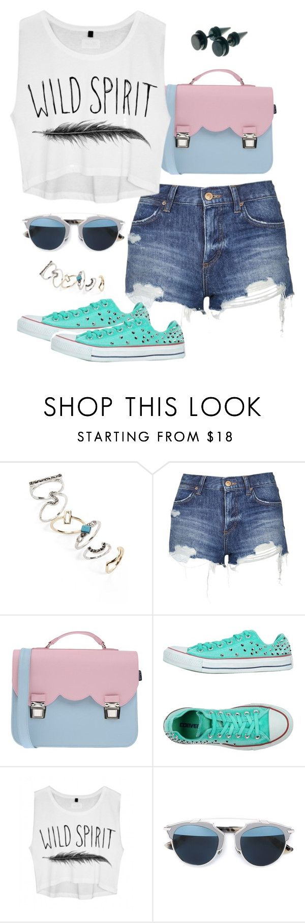 """Untitled #3346"" by meandelstyle ❤ liked on Polyvore featuring Topshop, La Cartella, Converse, Christian Dior, women's clothing, women, female, woman, misses and juniors"