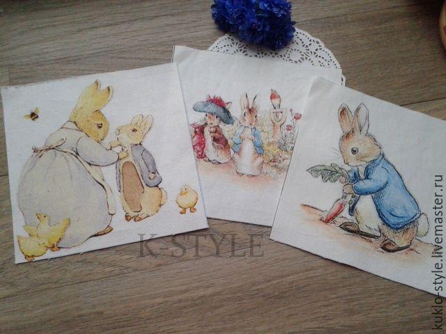 Купить НЕТ!!! Купон на ткани ( Кролик Питер Пуш) - комбинированный, купон, купонная ткань