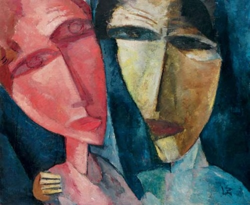 Lasar Segall - Zwei Köpfe, 1919. http://www.artexperiencenyc.com/social_login