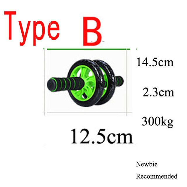 KUUBEE Noise Free Abdominal Wheel Ab Roller With Mat For Exercise Fitness Equipment Aparatos Para Hacer Ejercicio AB ROLLER