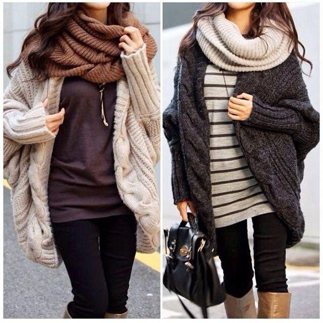 Chunky knits always