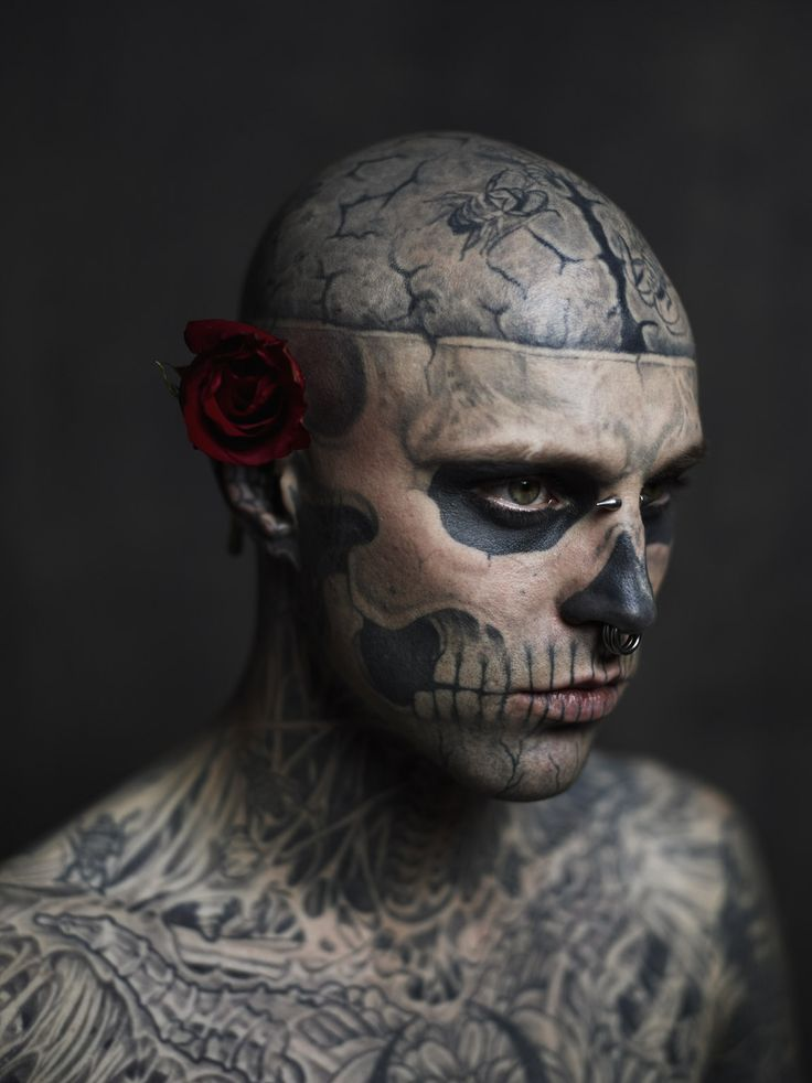 """Rick Genest, aka """"Rico the Zombie"""" photographed for the cover of Rebel Ink Magazine  joeyl.com"""