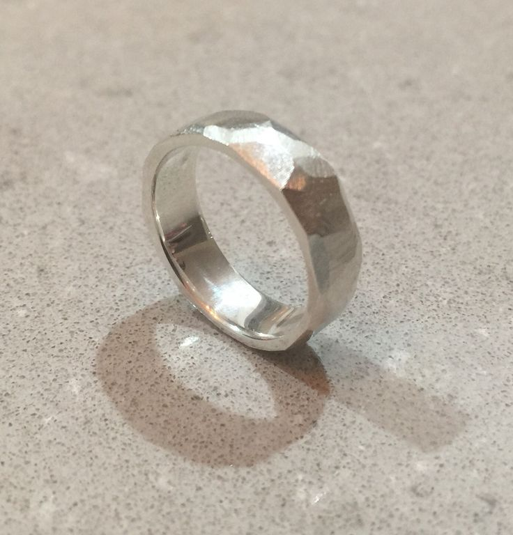 Sterling silver faceted ring.