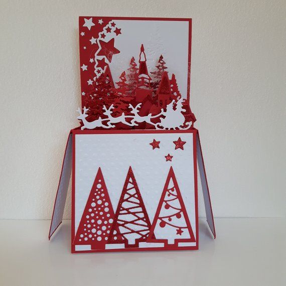 carte de noel pop up Christmas card craft original pop up | Cartes de noël originales