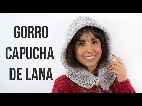 Gorro capucha de lana