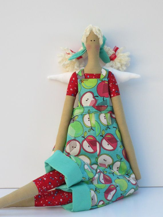 Lovely fabric doll handmade cloth doll art door HappyDollsByLesya