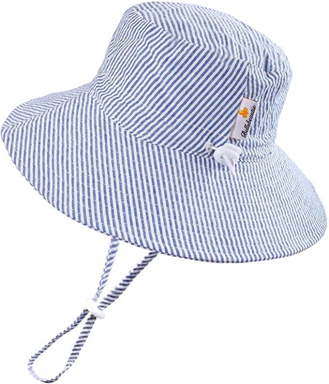 Amazon Com Bellebeautie Sun Hat Baby Toddler Kids 50 Upf Sun Protective Wide Brim Bucket Hat Pink Seersucker Clothing Baby Sun Hat Pink Seersucker Baby Hats