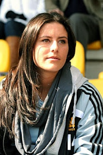 Ali Krieger, defender of the US WNT.  Her and Rampone are the heart and sole of that team.