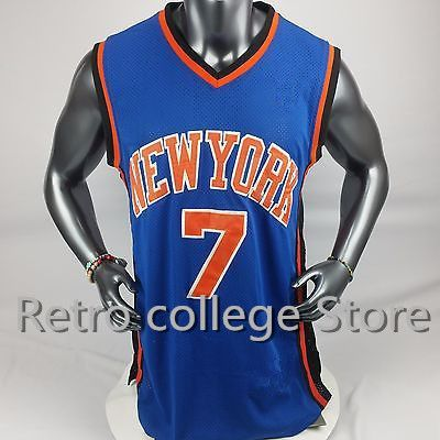 NEW YORK BASKETBALL Shirt JERSEY #7 Carmelo Anthony #3 Tracy McGradyRetro Throwback Embroidery Stitched Personalized Custom any  #Affiliate