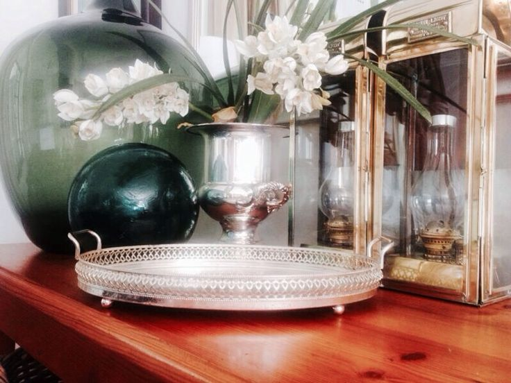 Lovely Silver tray. ideal for Sherry or a Dressing Table?