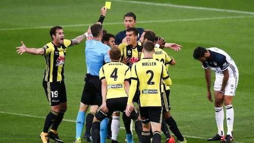 There was worse to come for Rhys Williams after referee, Matthew Conger, upgraded the yellow to a red in the 8' after consulting VAR. The one-man advantage, along with an own goal helped #WgtnPhoenixFC to their 2nd win of the season. 11.01.18