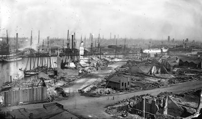 Picture of Wacker and LaSalle Streets After Chicago Fire in 1871 Historic Chicago Photographs  Photographs are available for purchase - call or email to inquire about pricing. If you would like to view additional historic Chicago photographs please follow this link