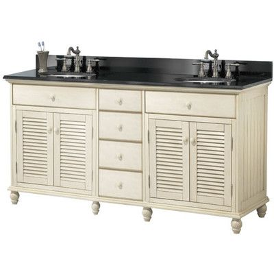 Features:  -Vanity cabinet.  -Sinks sold separately .  -Base only, top not included.  -Material: Poplar wood and MDF.  -Doors Included: Yes.  -Cabinet: Yes.  Base Finish: -White.  Base Material: -Wood