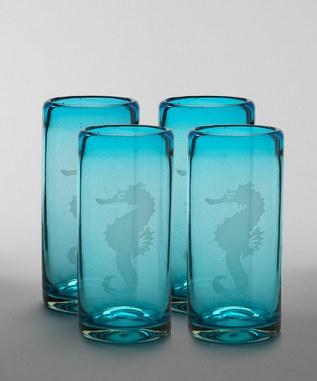 seahorse glasses by VIVAZ  set of 4 $29.99